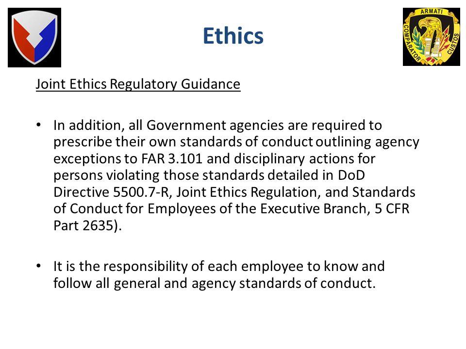 Ethics Joint Ethics Regulatory Guidance