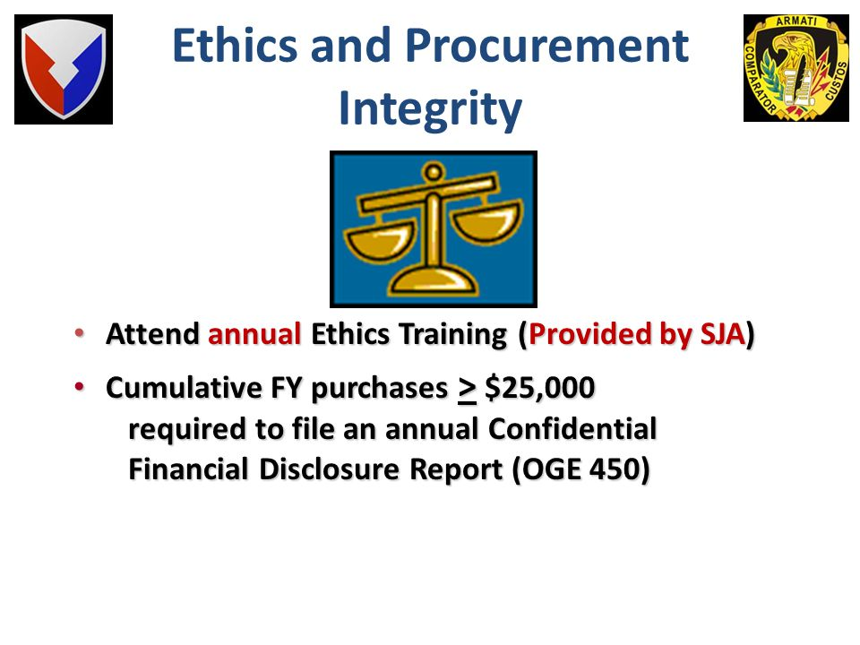 Ethics and Procurement Integrity