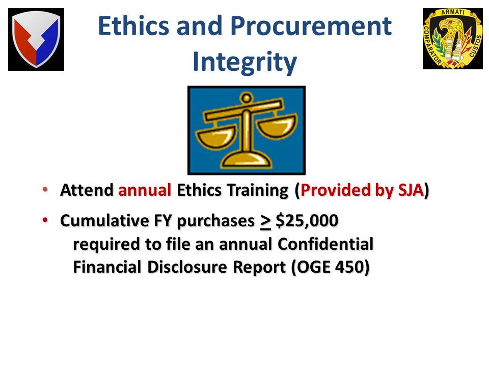 Ethics and Procurement Integrity