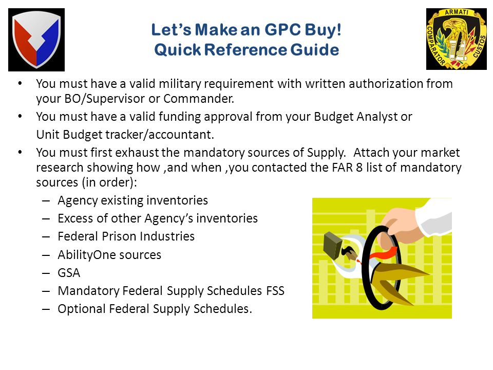 Let's Make an GPC Buy! Quick Reference Guide