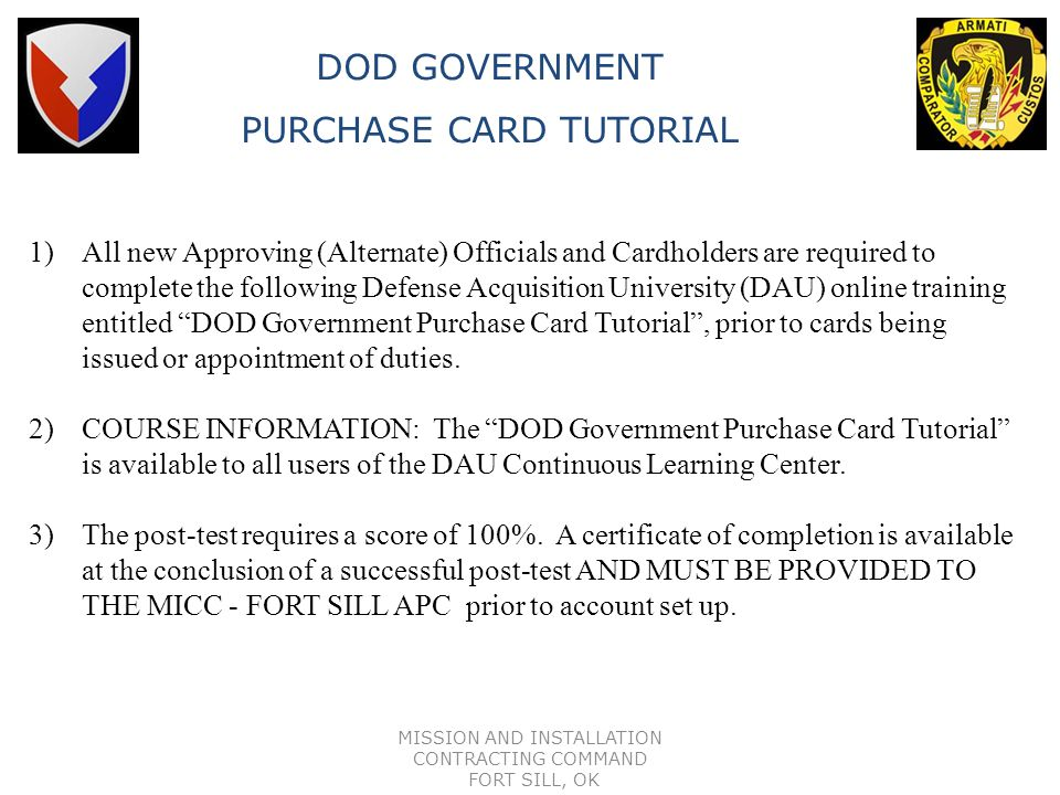 PURCHASE CARD TUTORIAL