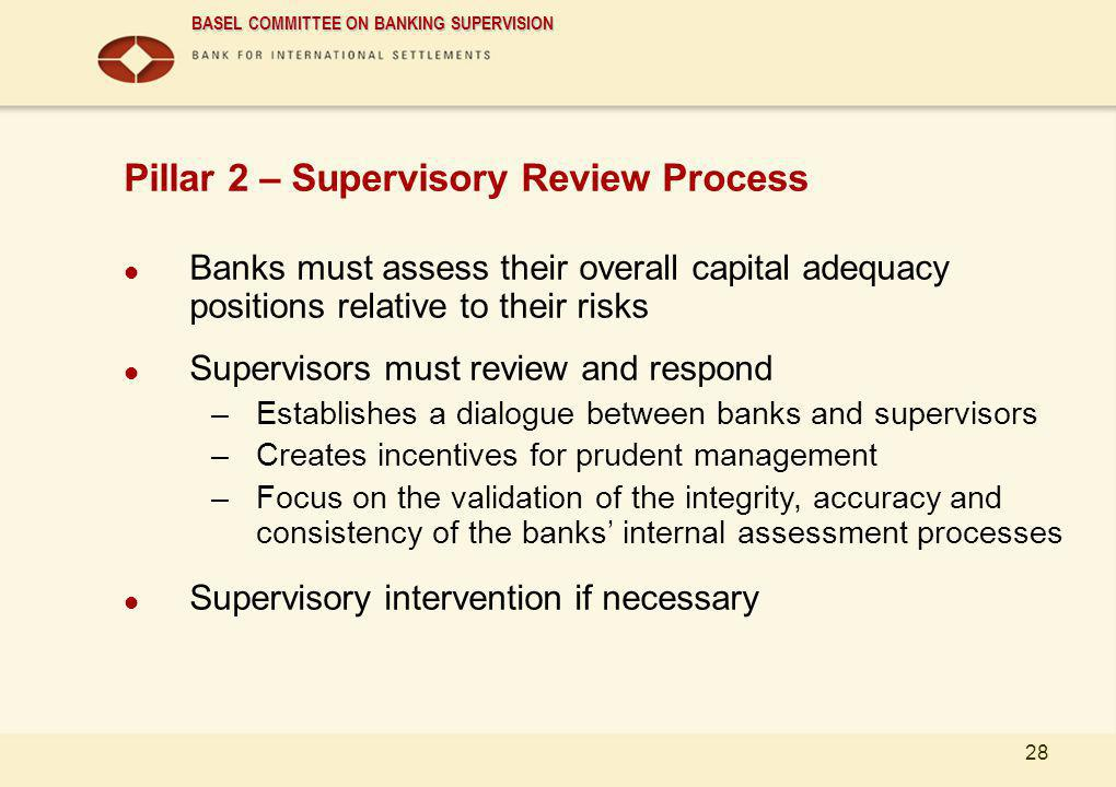 Pillar 2 – Supervisory Review Process