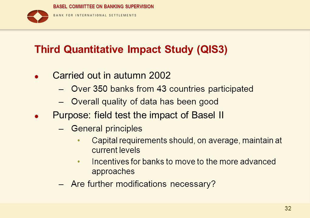 Third Quantitative Impact Study (QIS3)