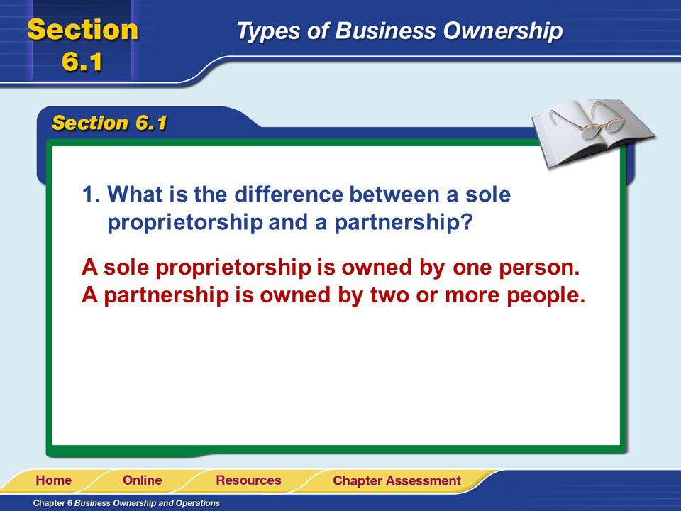 What is the difference between a sole proprietorship and a partnership