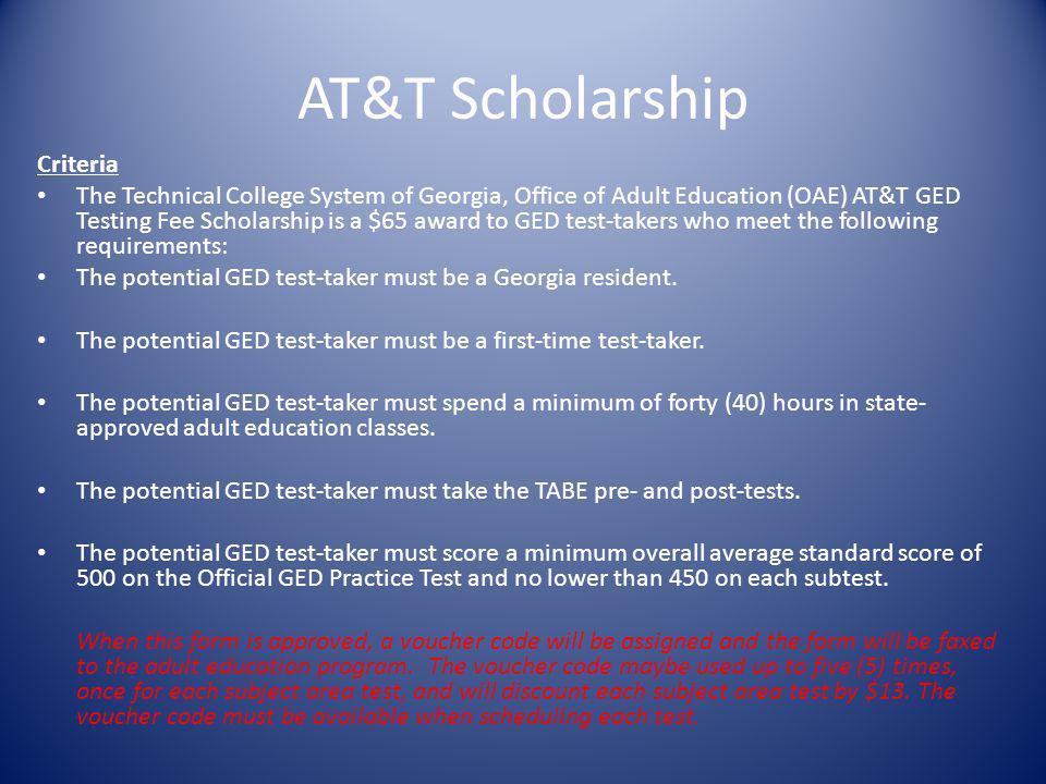 AT&T Scholarship Criteria