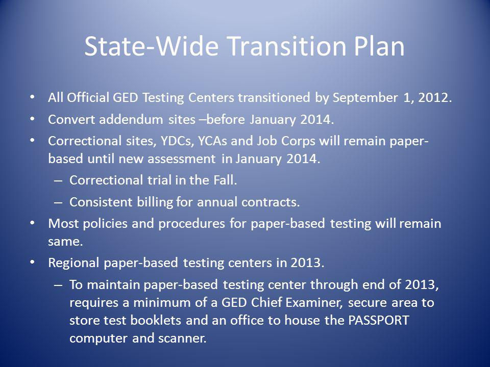 State-Wide Transition Plan