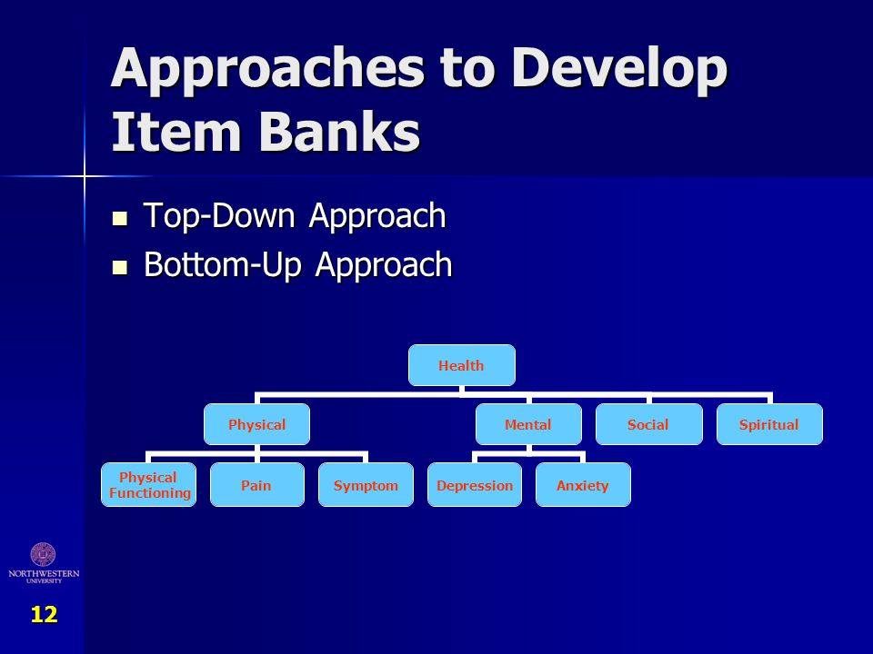 Approaches to Develop Item Banks