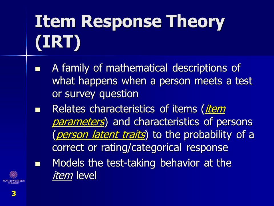 Item Response Theory (IRT)