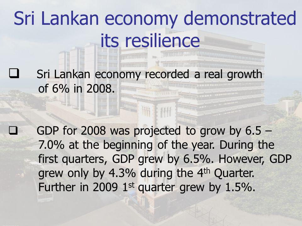 Sri Lankan economy demonstrated its reliance