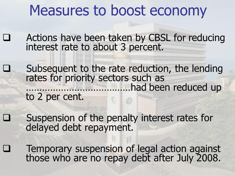 Measures to boost economy