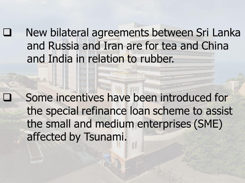 New bilateral agreements between Sri Lanka