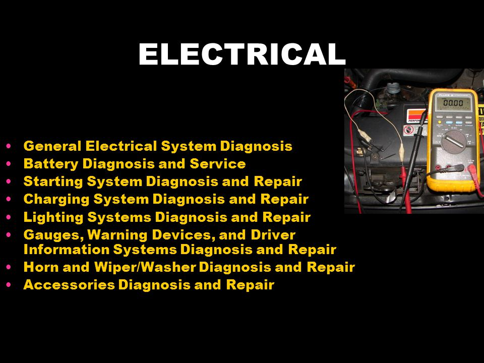 ELECTRICAL General Electrical System Diagnosis