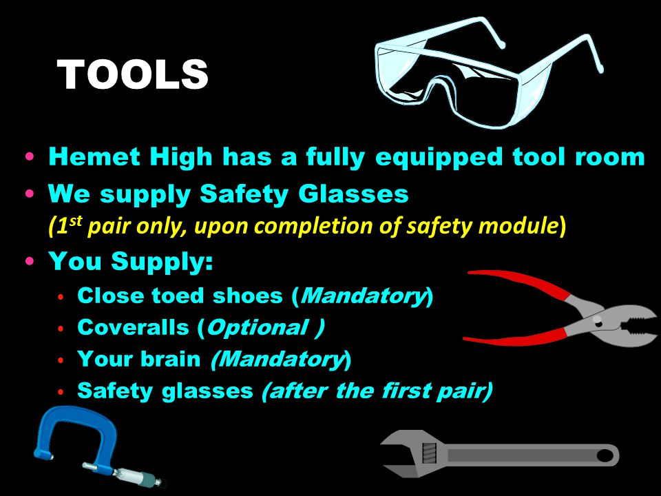 TOOLS Hemet High has a fully equipped tool room