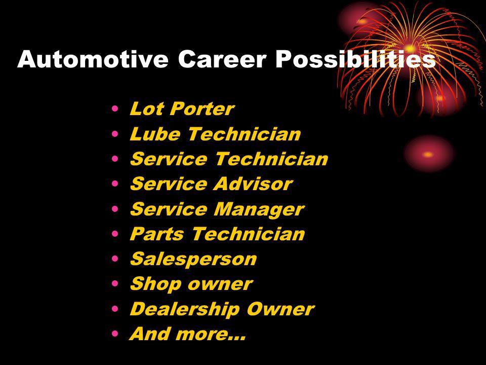 Automotive Career Possibilities