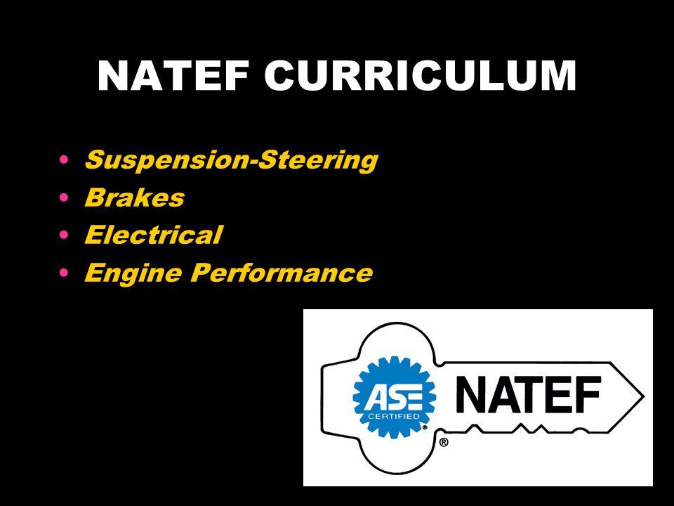 NATEF CURRICULUM Suspension-Steering Brakes Electrical