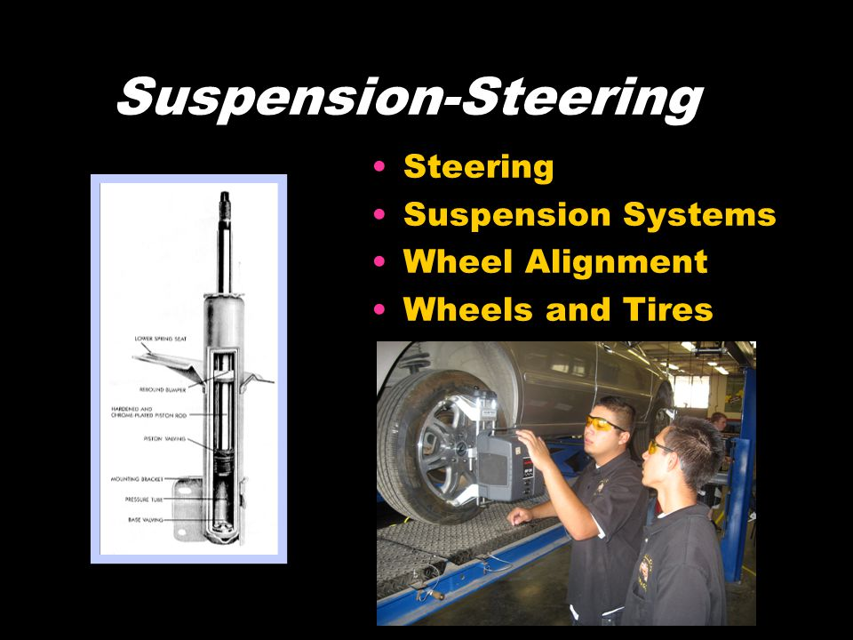Suspension-Steering Steering Suspension Systems Wheel Alignment