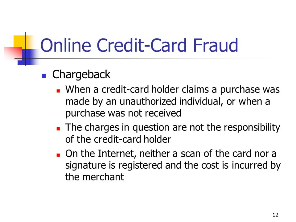 Online Credit-Card Fraud