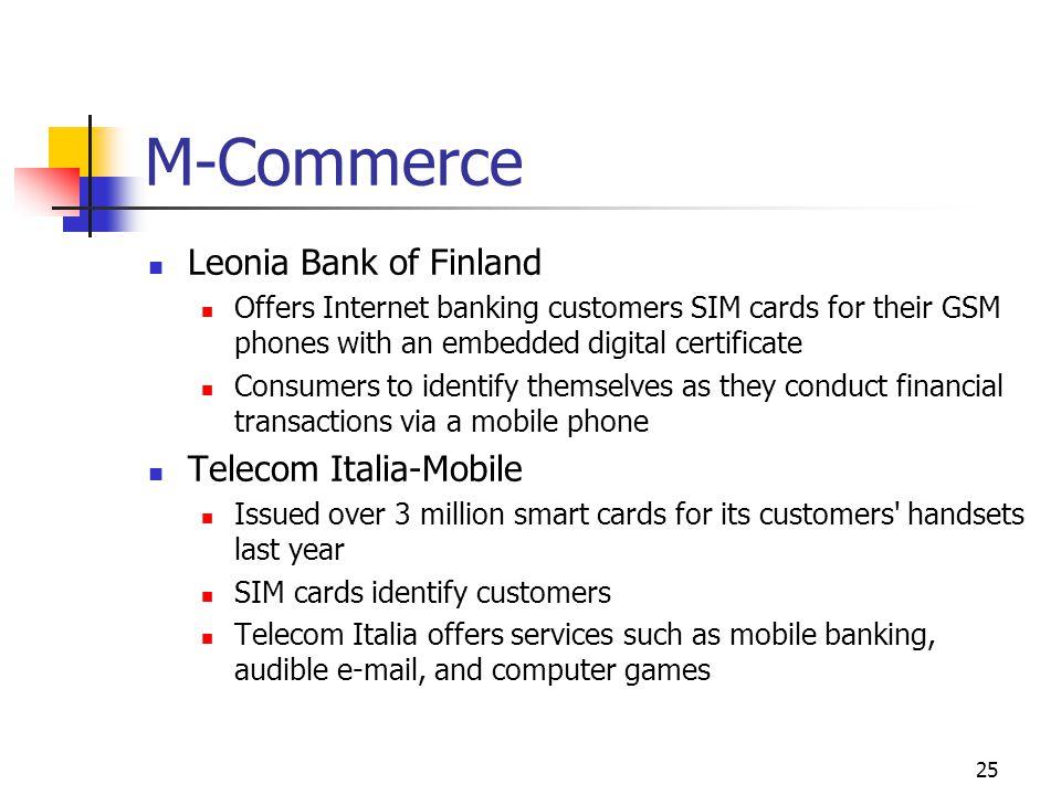 M-Commerce Leonia Bank of Finland Telecom Italia-Mobile