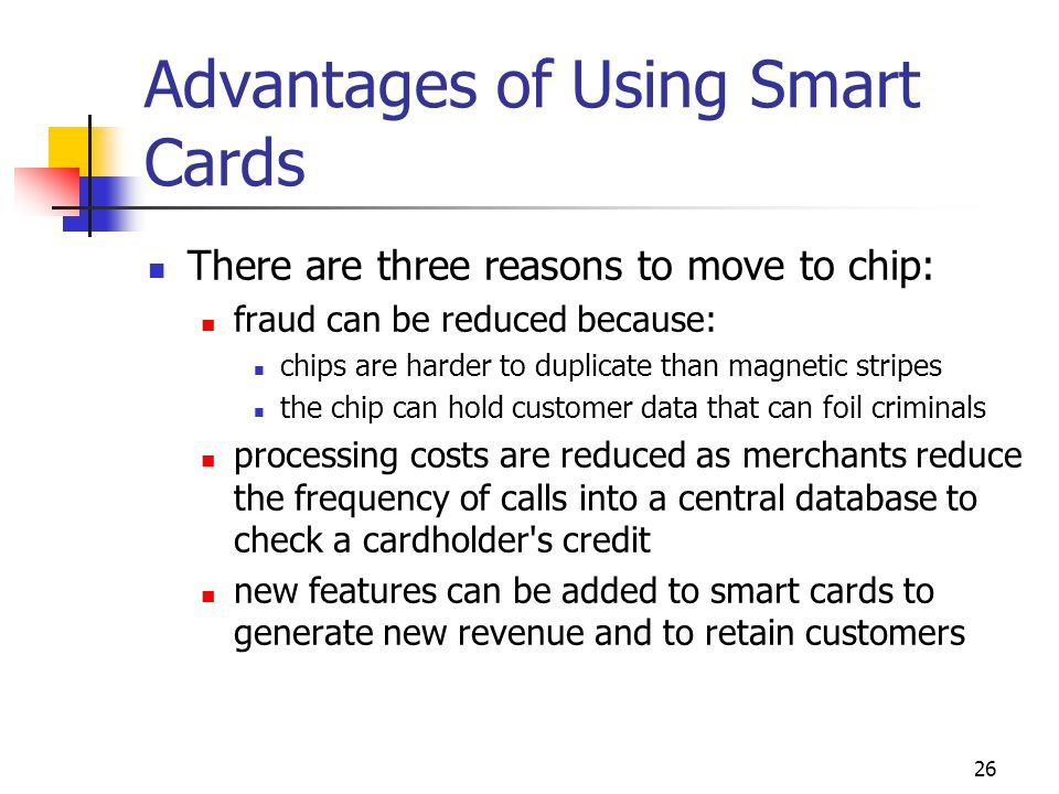 Advantages of Using Smart Cards