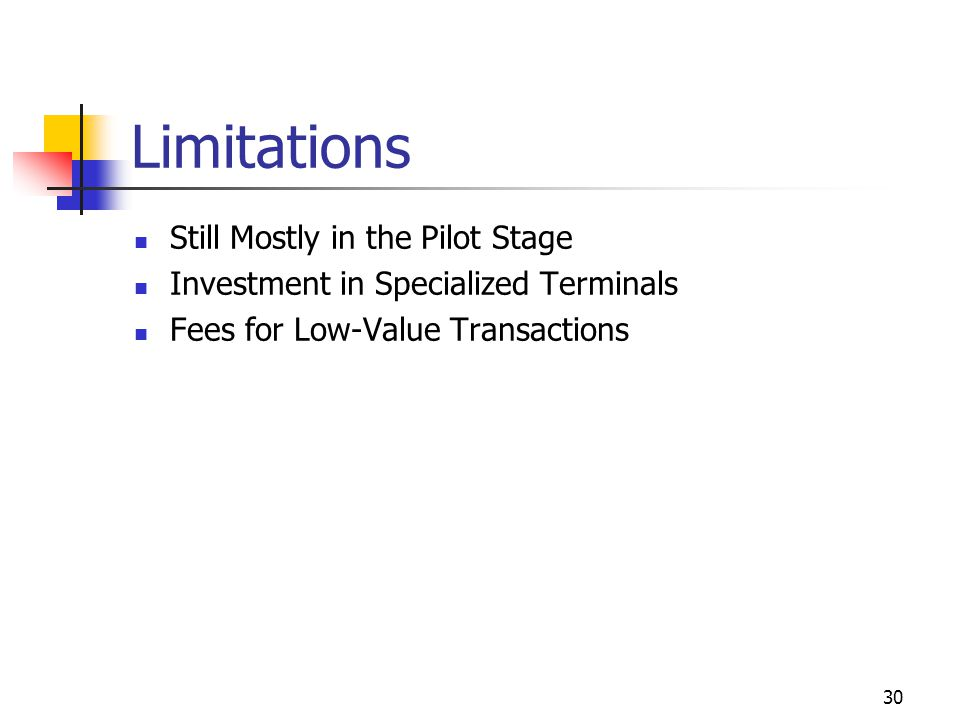 Limitations Still Mostly in the Pilot Stage