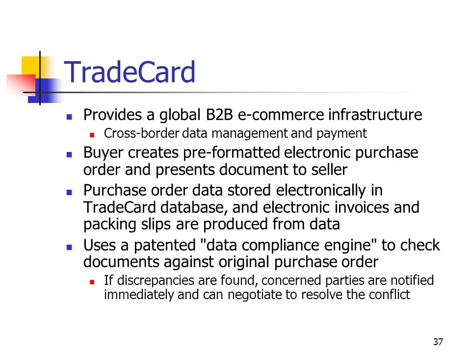 TradeCard Provides a global B2B e-commerce infrastructure