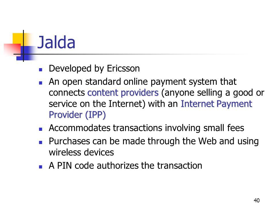 Jalda Developed by Ericsson