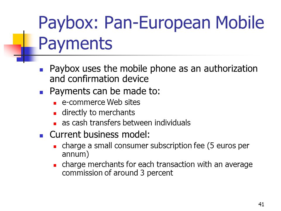 Paybox: Pan-European Mobile Payments