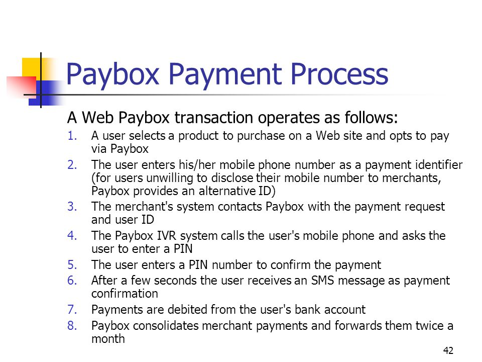 Paybox Payment Process