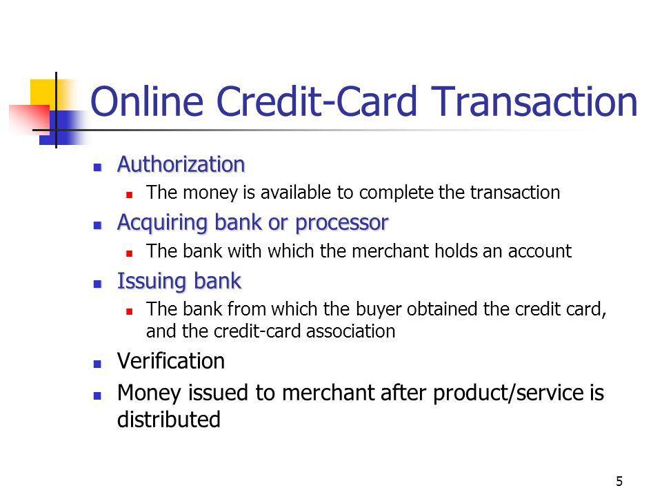 Online Credit-Card Transaction