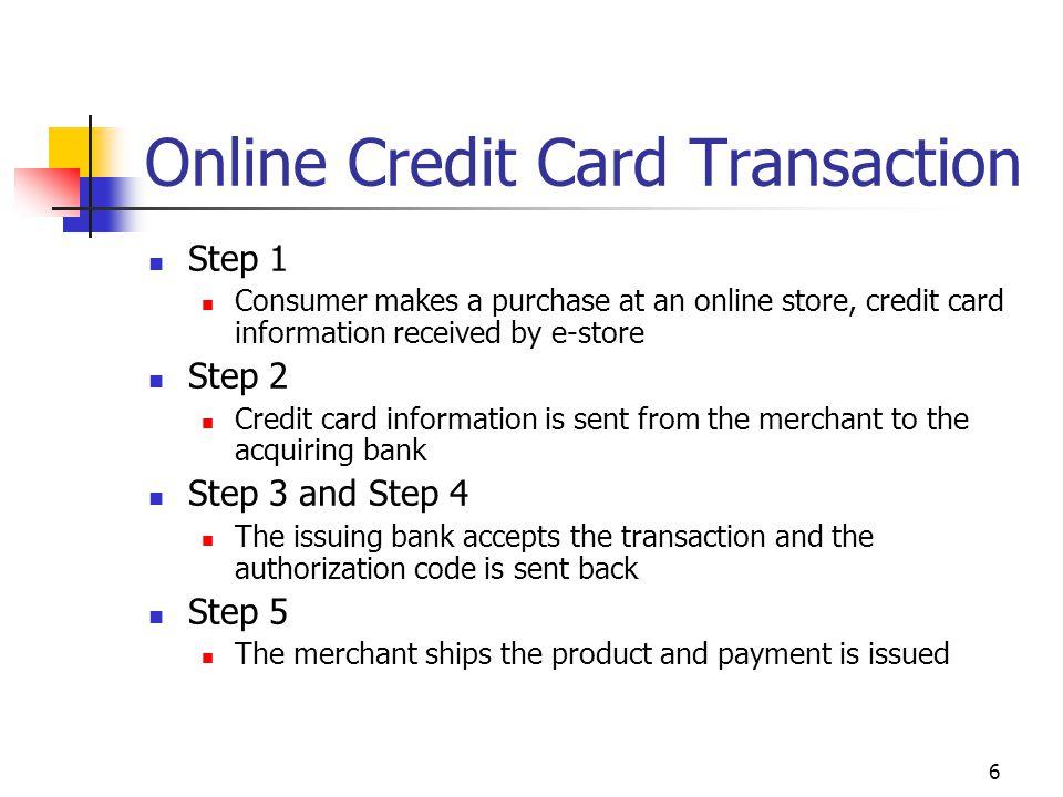 Online Credit Card Transaction