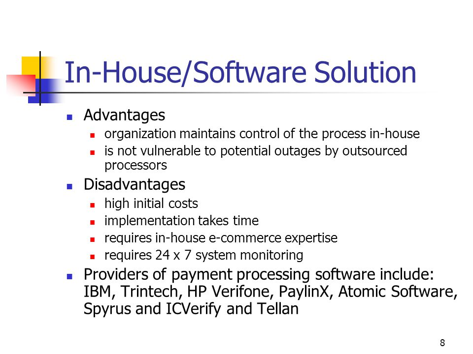 In-House/Software Solution