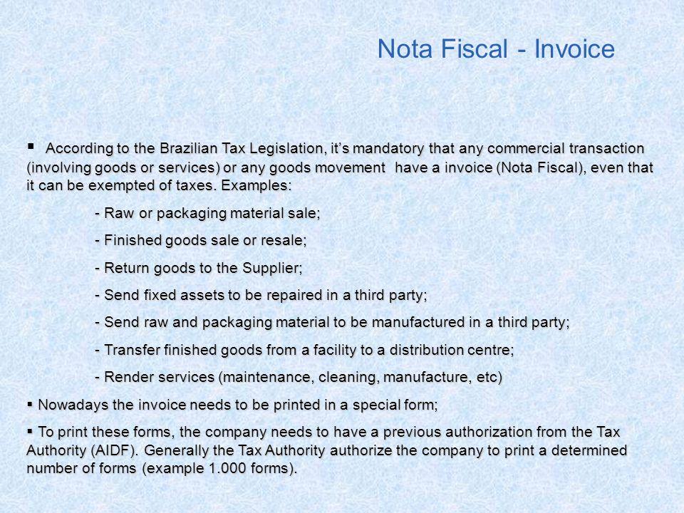 Nota Fiscal - Invoice
