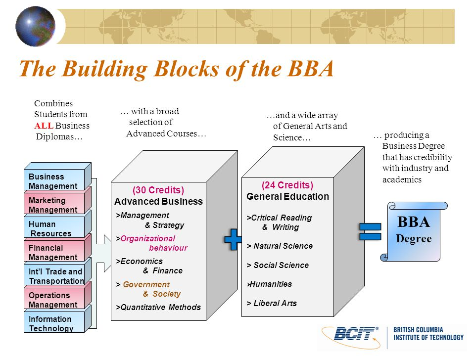 The Building Blocks of the BBA