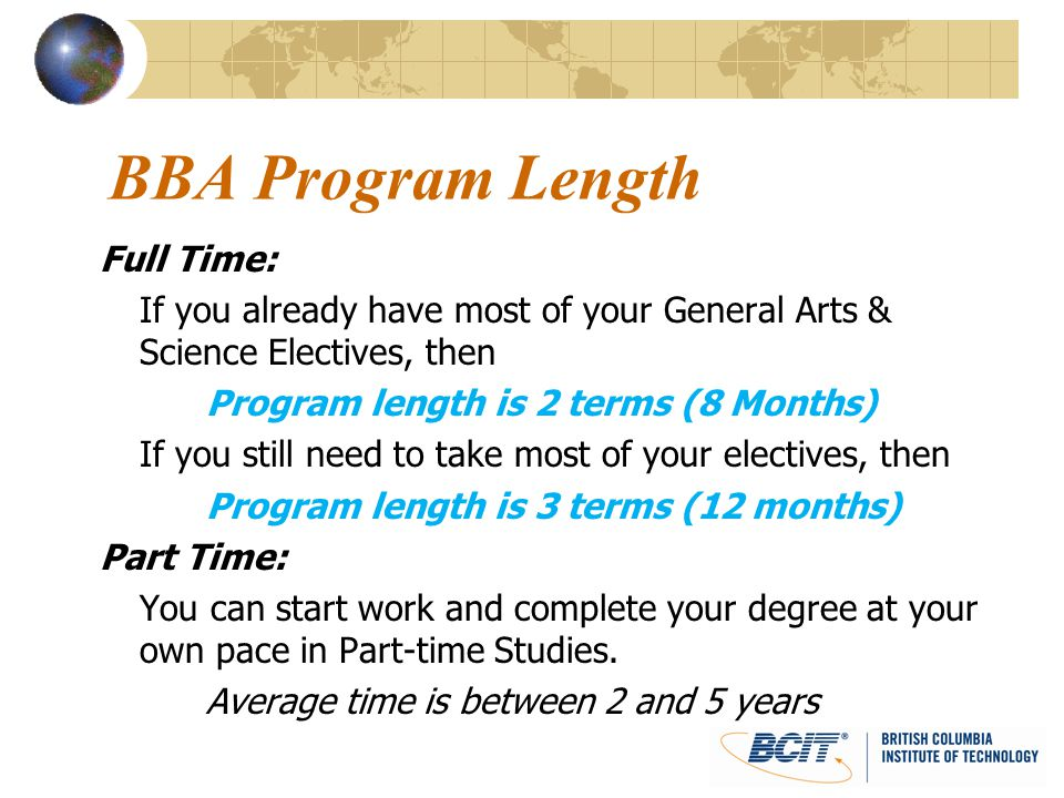 BBA Program Length