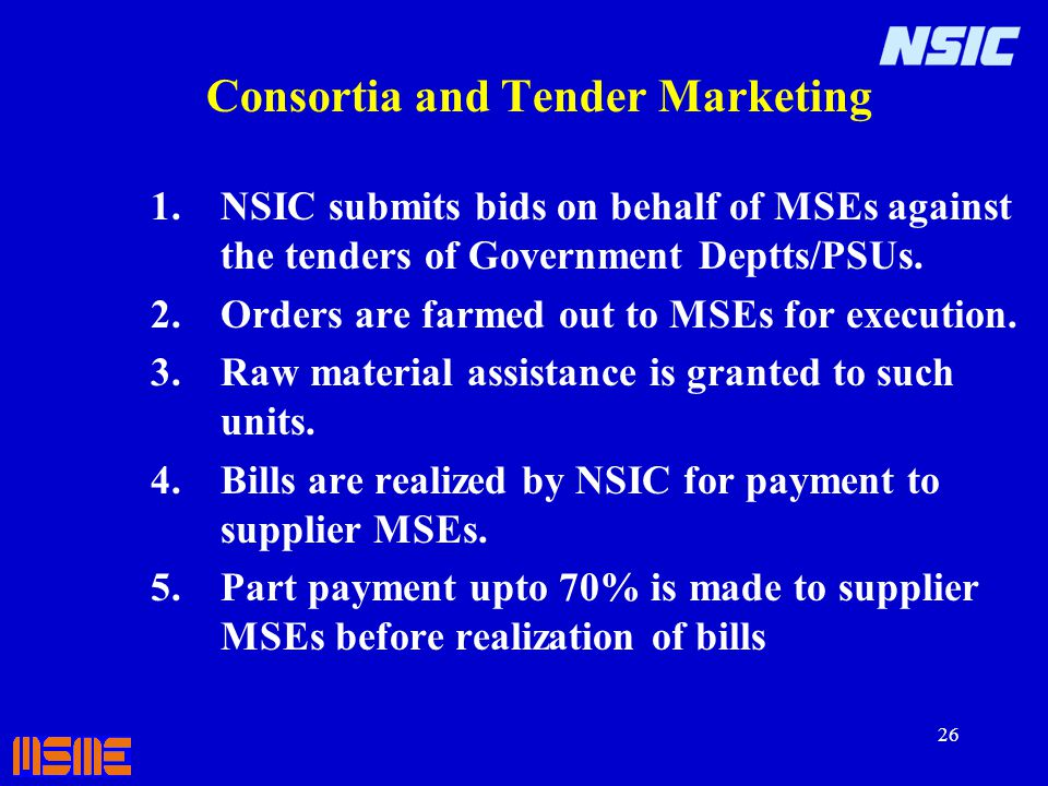 Consortia and Tender Marketing