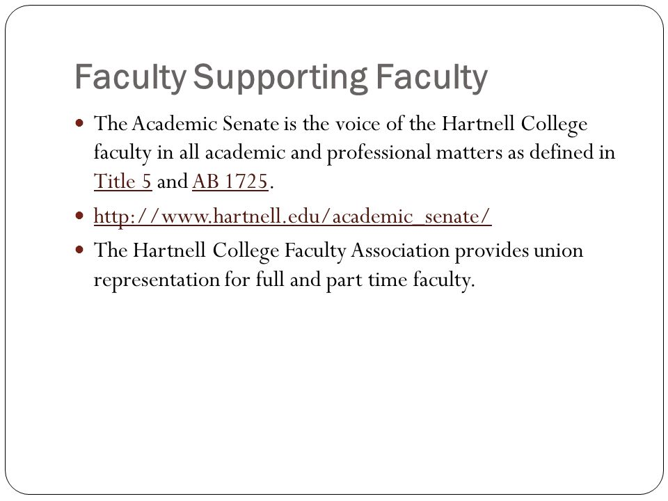 Faculty Supporting Faculty
