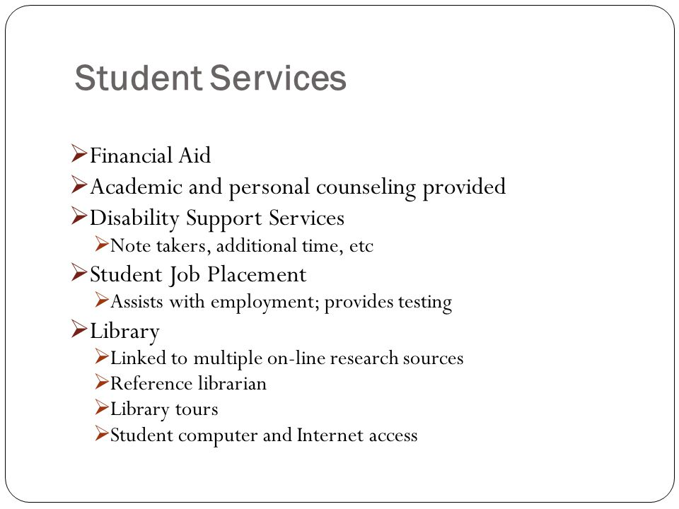 Student Services Financial Aid