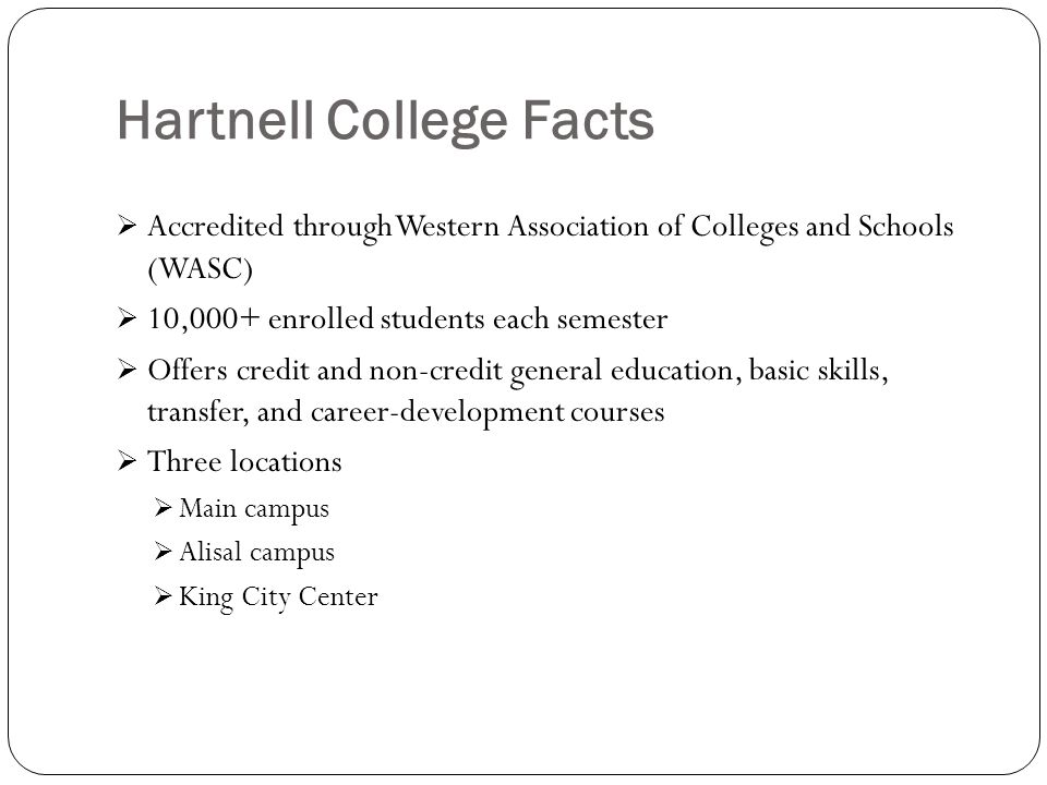 Hartnell College Facts