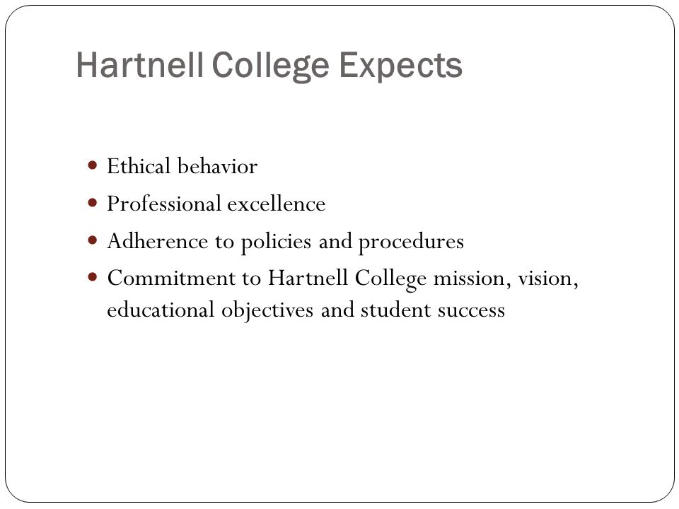 Hartnell College Expects