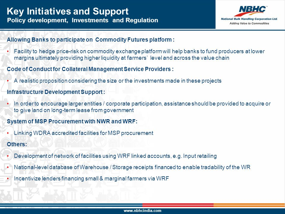 Key Initiatives and Support