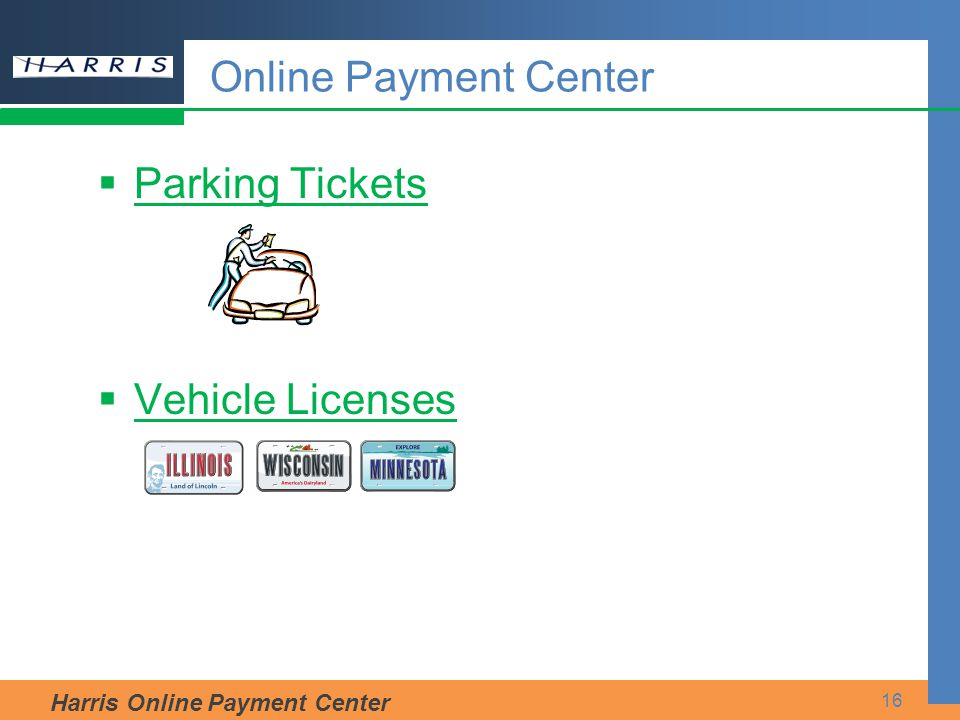 Online Payment Center Parking Tickets Vehicle Licenses