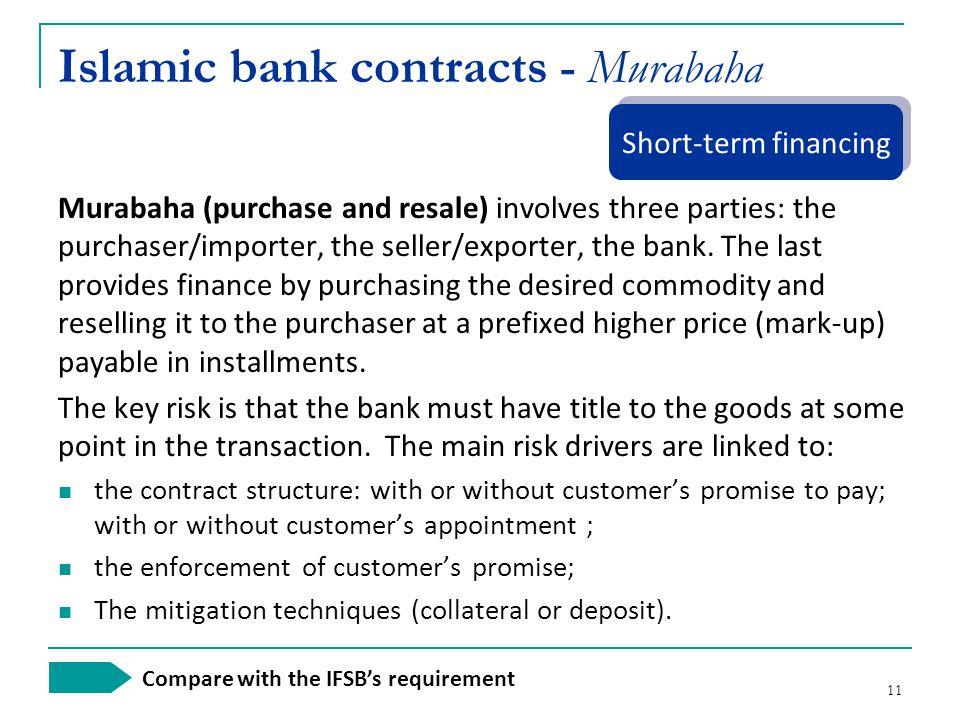 Islamic bank contracts - Murabaha