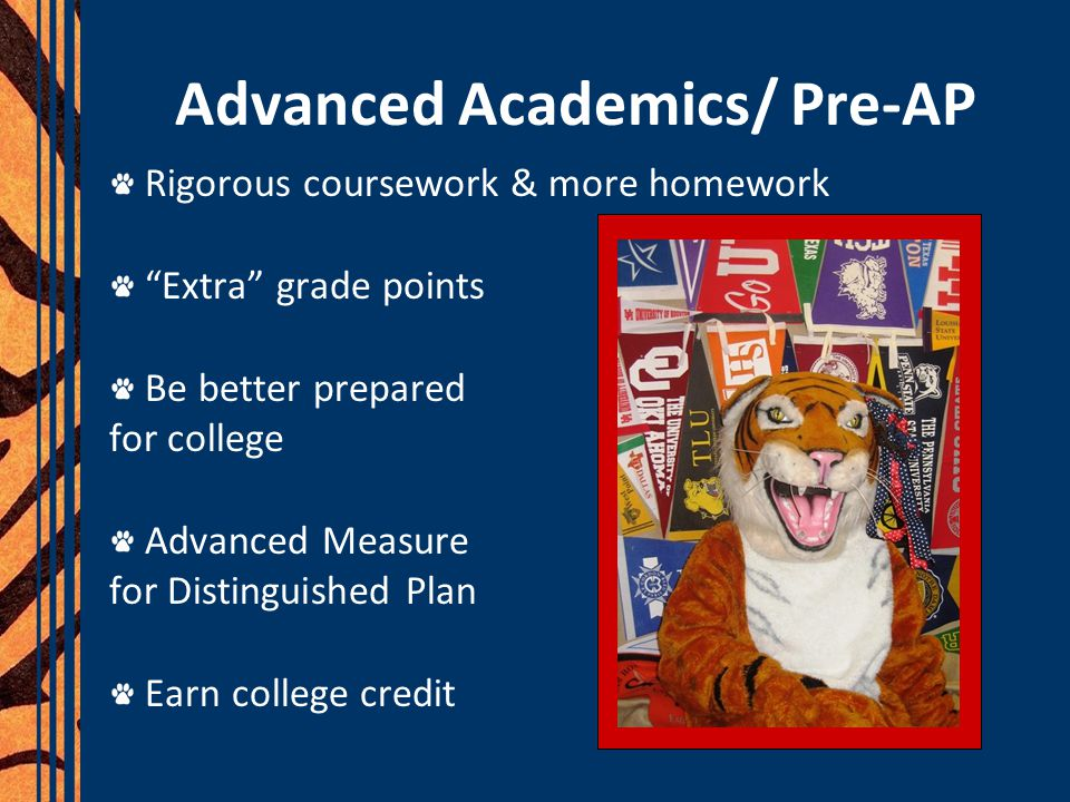 Advanced Academics/ Pre-AP