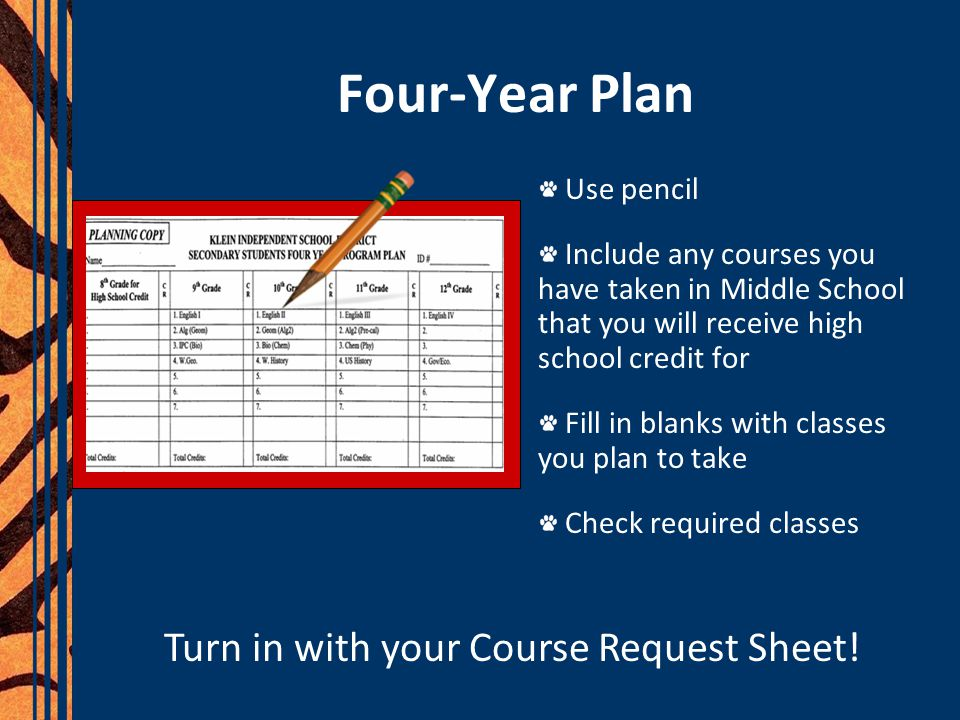Turn in with your Course Request Sheet!
