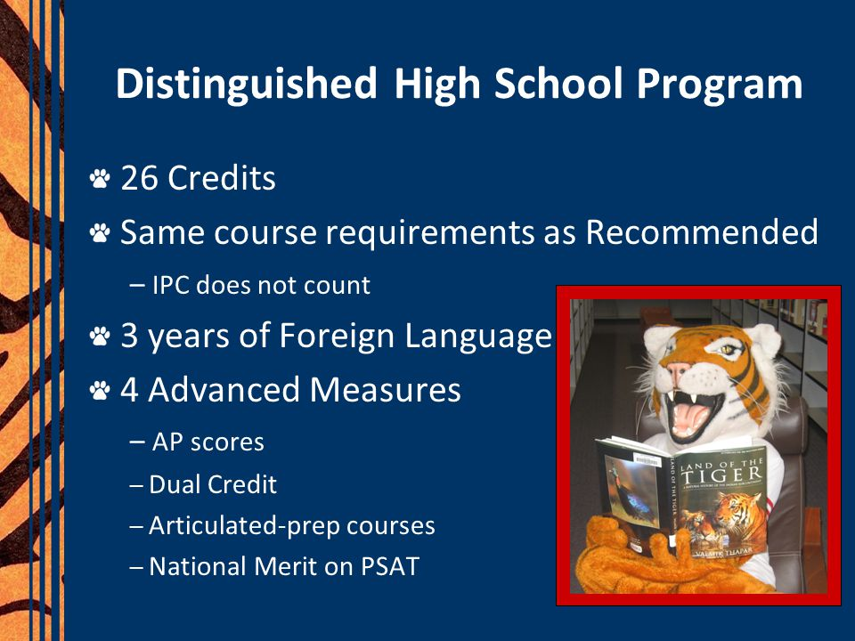 Distinguished High School Program