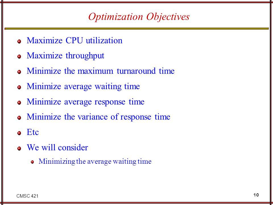 Optimization Objectives