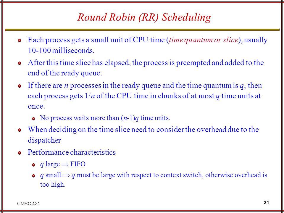 Round Robin (RR) Scheduling