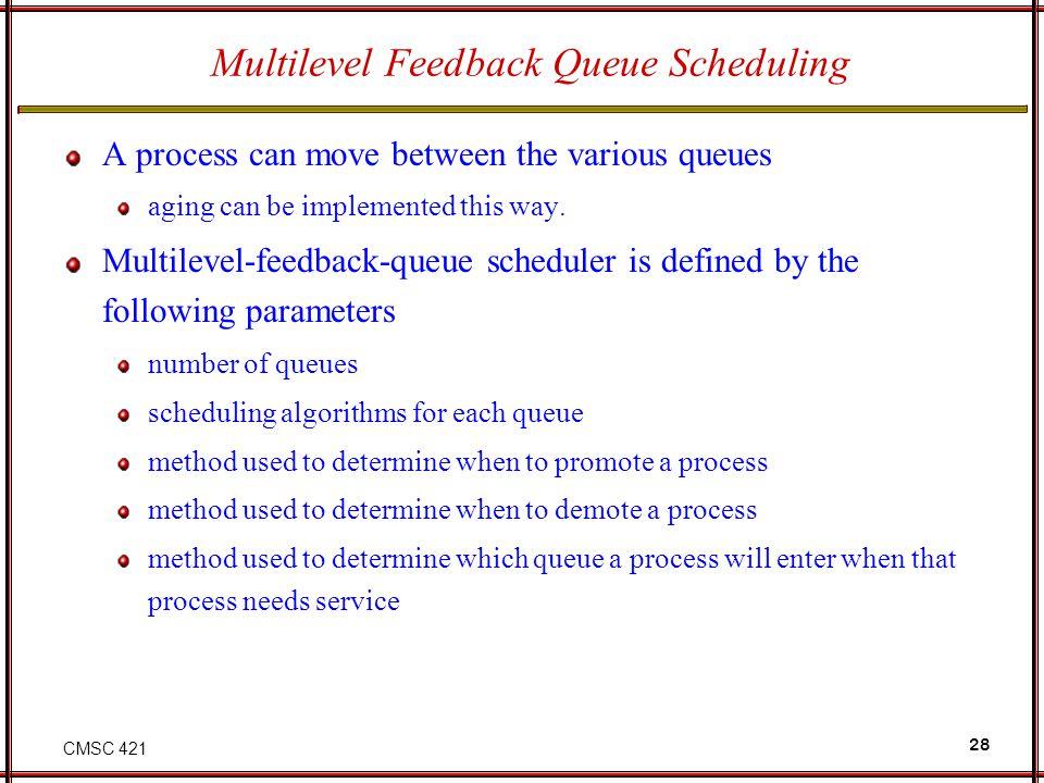 Multilevel Feedback Queue Scheduling