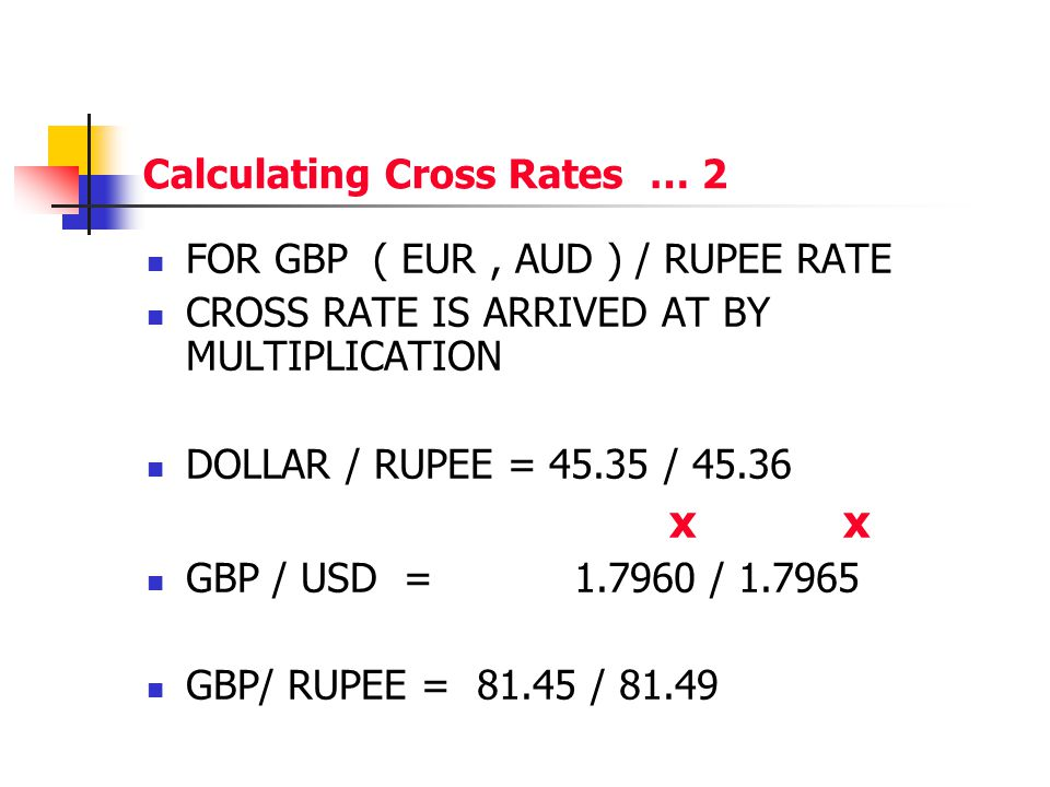 Calculating Cross Rates … 2