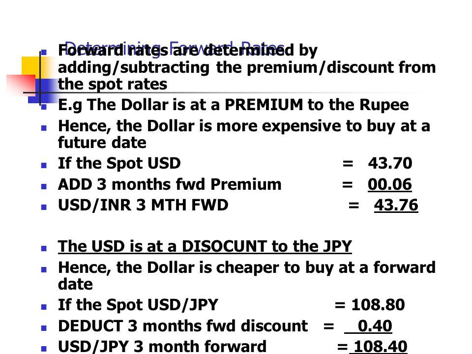 Determining Forward Rates